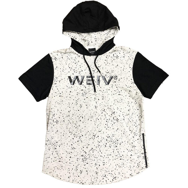 White Splatter Logo Hoodie Tee - Sweaters & Hoodies - NIGEL MARK