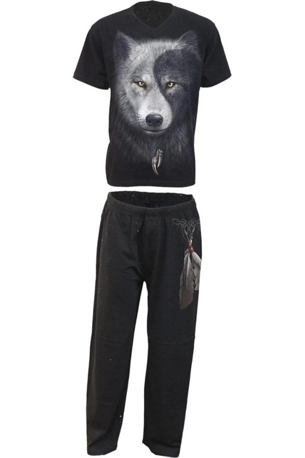WOLF CHI - 4pc Mens Gothic Pyjama Set - MEN SLEEP & LOUNGE - NIGEL MARK