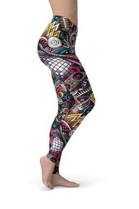 Women's Grunge Rock N Roll Leggings - BOTTOMS - NIGEL MARK