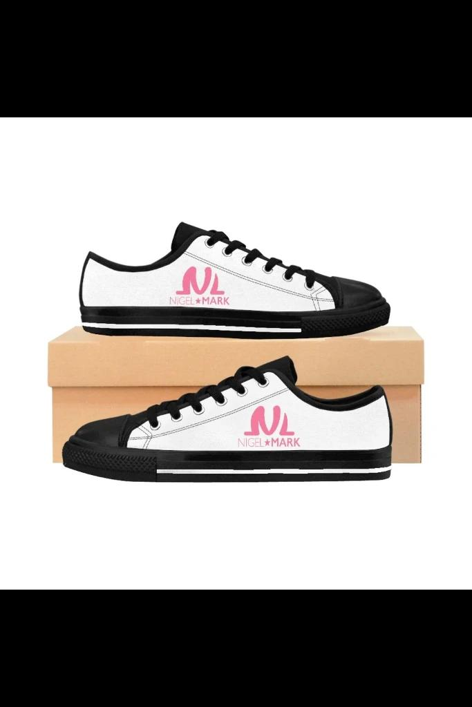 pink logo sneaker shoes