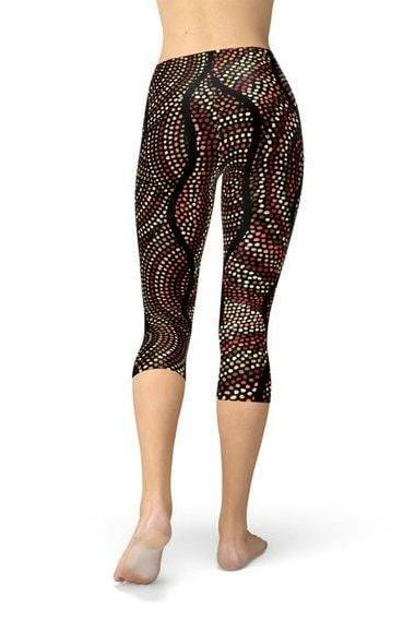 Womens Polka Dot Artwork Capri Leggings - WOMEN BOTTOMS - NIGEL MARK