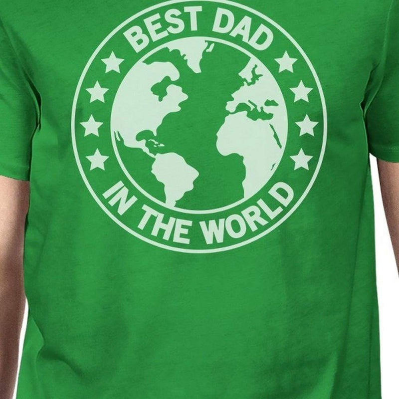 World Best Dad Mens Green Funny Graphic T-Shirt - MEN TOPS - NIGEL MARK