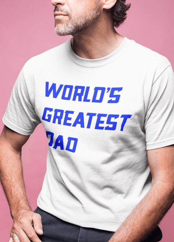 World,s greatest dad T-shirt - MEN TOPS - NIGEL MARK