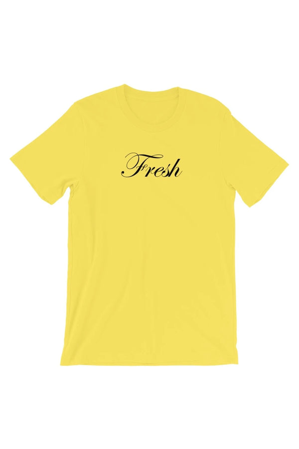 Yellow Fresh Script T-Shirt - Men's Clothing - NIGEL MARK