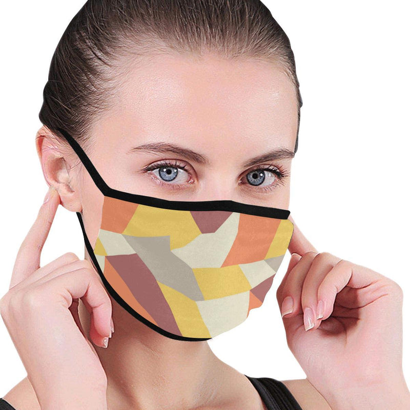Yellow Geometric Hand-Made Fabric Face Mask - BEAUTY & WELLNESS - NIGEL MARK