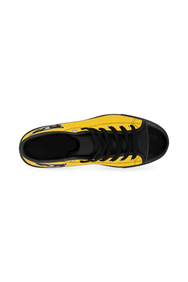 Yellow Panther NM Women's High-top Sneakers - NM BRANDED - NIGEL MARK