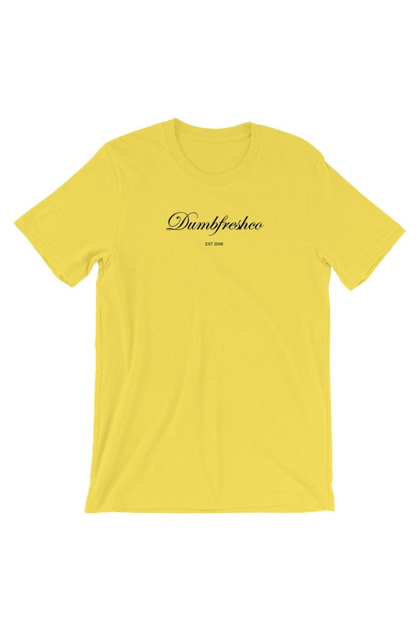 Yellow Script T-Shirt - Men's Clothing - NIGEL MARK