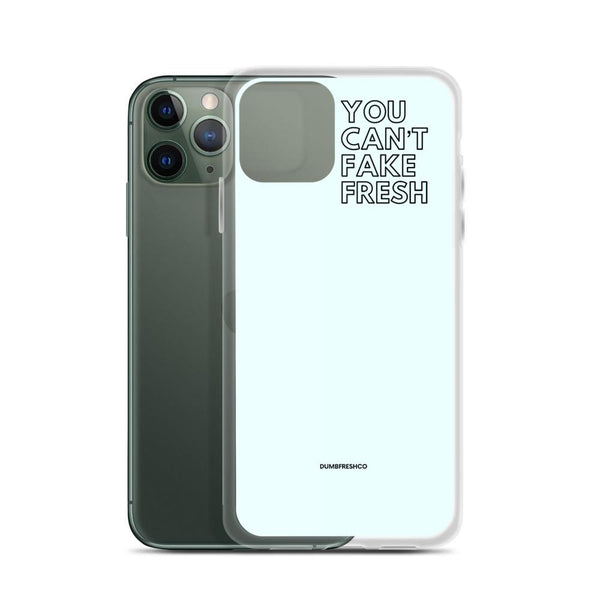 You Can't Fake Fresh iPhone Case | Pale Blue - ACCESSORIES - NIGEL MARK