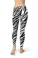 Zebra Stripes Leggings - BOTTOMS - NIGEL MARK