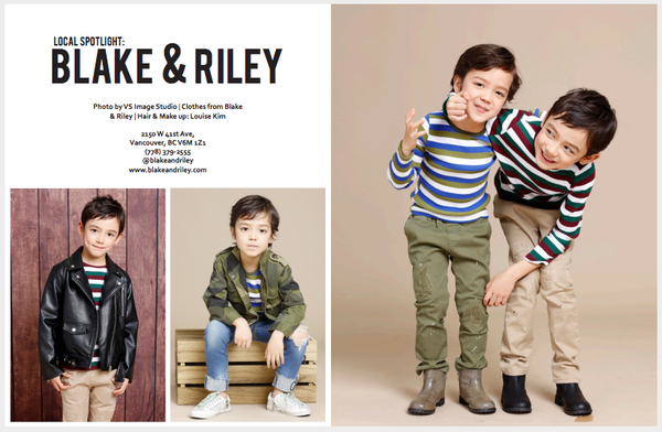 Blake & Riley in Vancouver Kids' Fashion Week Magazine