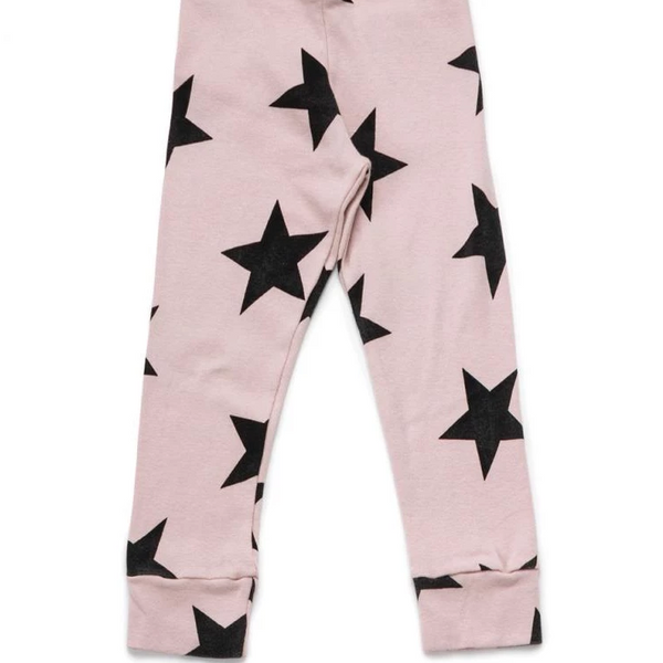 Star Leggings - Powder Pink