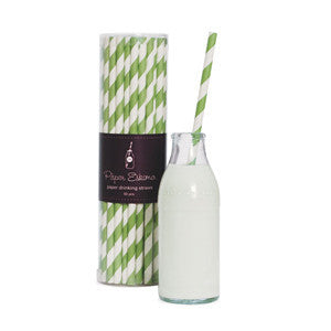 Paper Straws - Apple Green