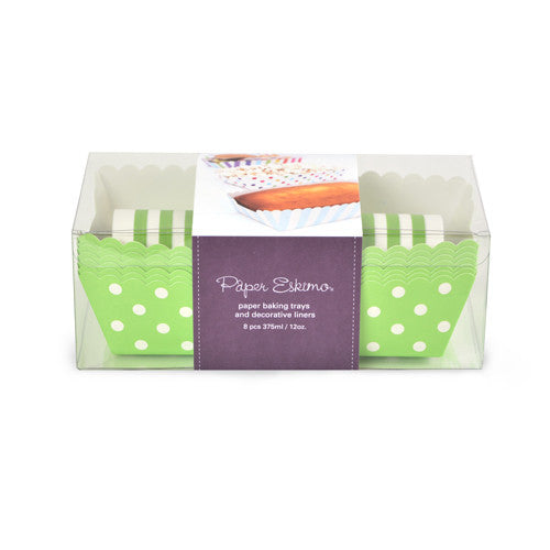 Baking Trays - Apple Green Spots