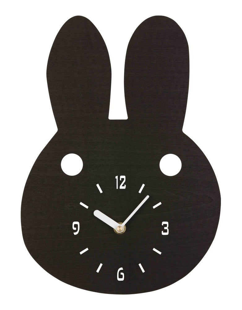 Black Bunny Timber Clock