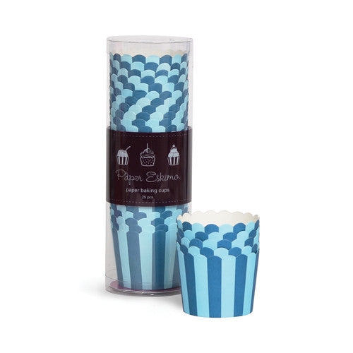 Baking Cups - Blue Stripes
