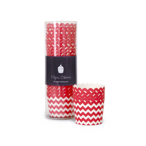 Baking Cups - Candy Cane Chevron
