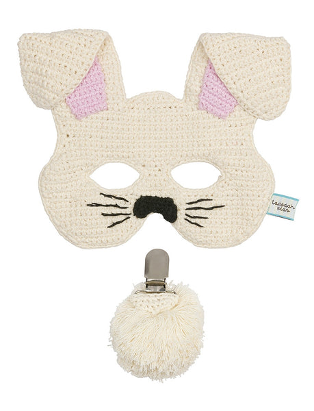 Cream Bunny Mask and Tail Set