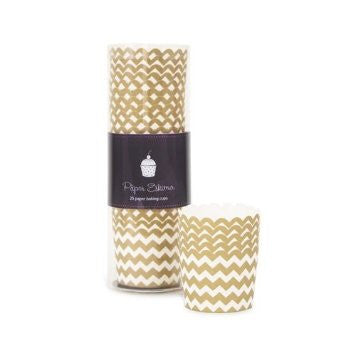 Baking Cups - Gold Crush Chevron