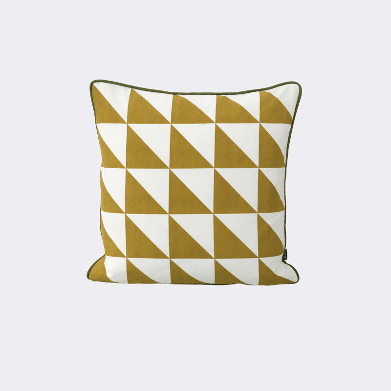 Large Geometry Cushion - Curry
