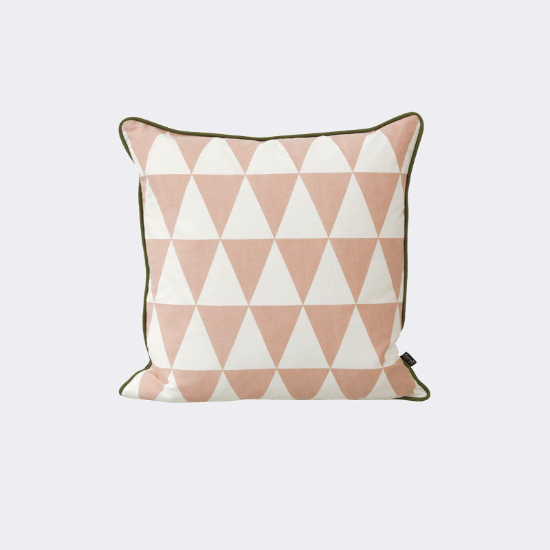 Large Geometry Cushion - Rose