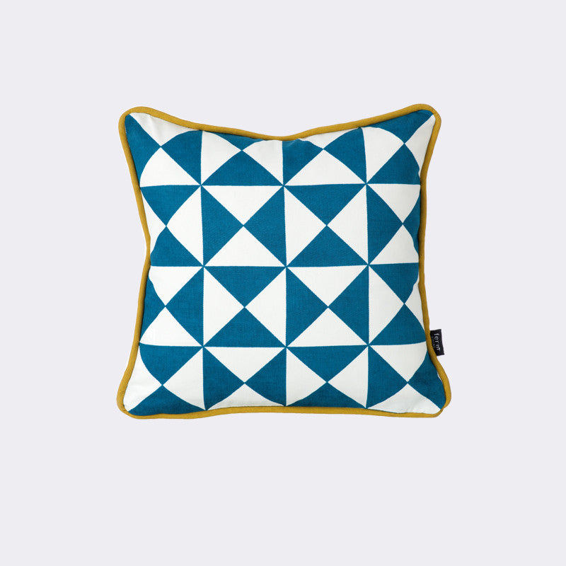 Little Geometry Cushion - Blue