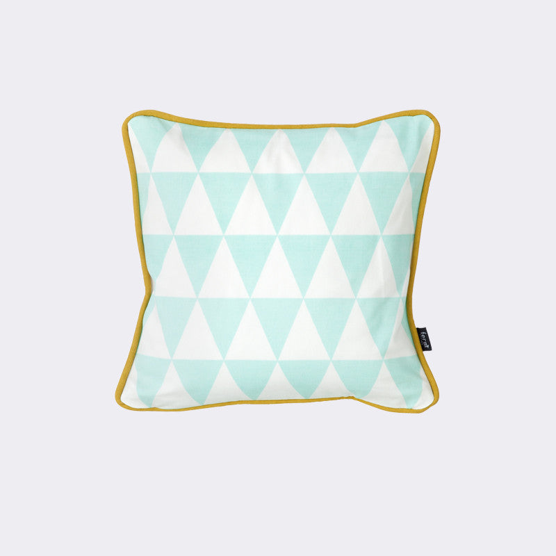 Little Geometry Cushion - Mint