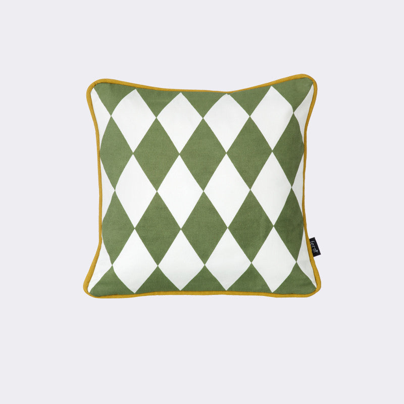 Little Geometry Cushion - Olive