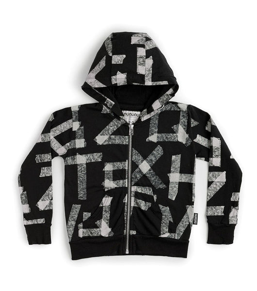 Masking Tape Light Zip Hoodie
