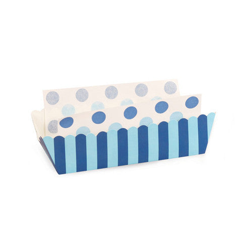 Baking Trays - Powder Blue Stripes