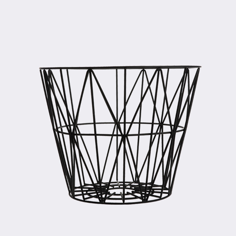Wire Basket - Medium - Black
