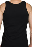 Men's Black Speedboat Tanktop - Blue Badge Logo (Beyond Extreme)