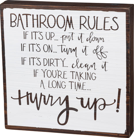 Bathroom - Rules Sign
