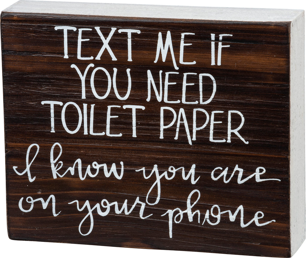 Bathroom - On Your Phone