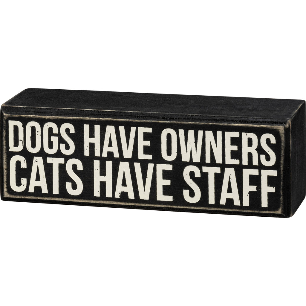 Box Sign - Cats Staff