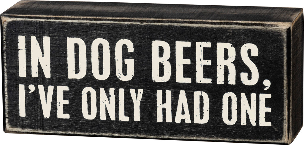Box Sign - Dog Beers