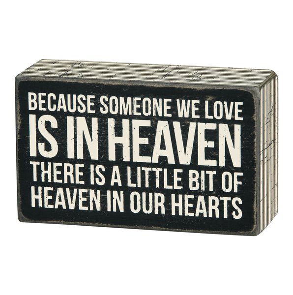 Box  Sign - Someone in Heaven