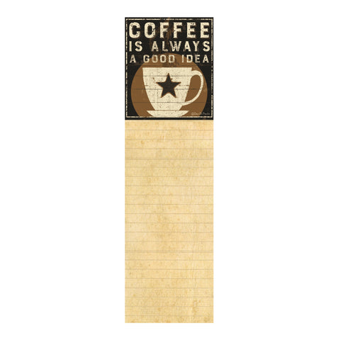Notepad of coffee shop online