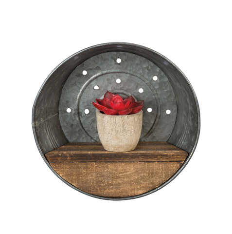 Metal Round Wall Shelf - Home Decor