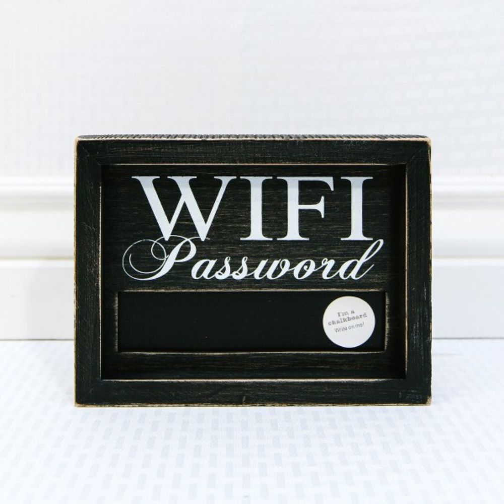 Chalkboard Wifi Sign