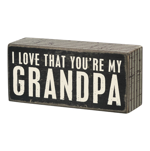 Box Sign - Grandpa