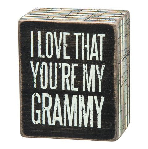 Box Sign - My Grammy