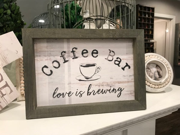 Coffee Bar Sign - Simple and Heartfelt Artwork
