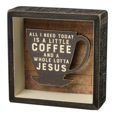 Box Sign - Jesus & Coffee