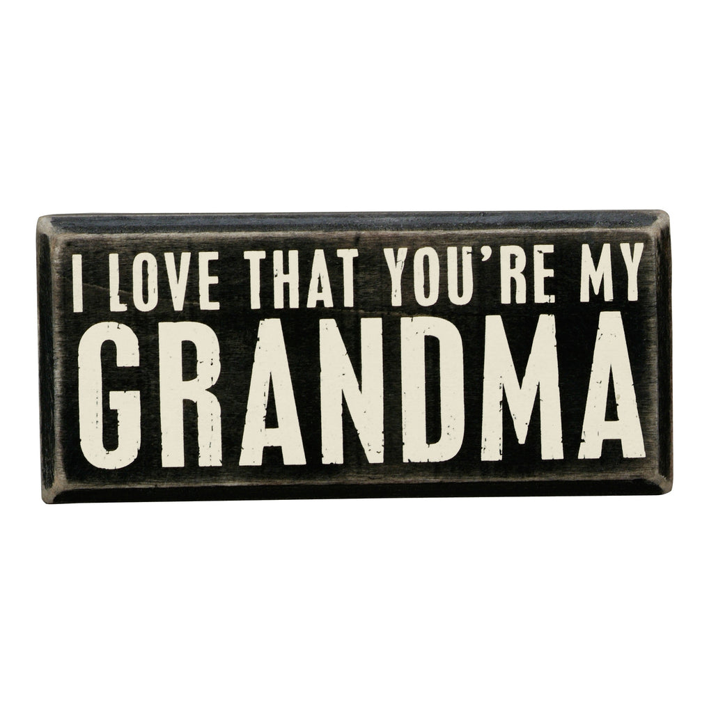 Box Sign - My Grandma