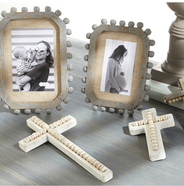 Beaded Wood Cross Available in 3 Sizes - Buy Online