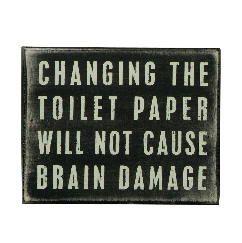 wooden Box Sign - Toilet Paper