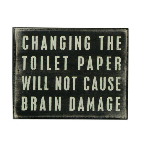 Box Sign - Toilet Paper