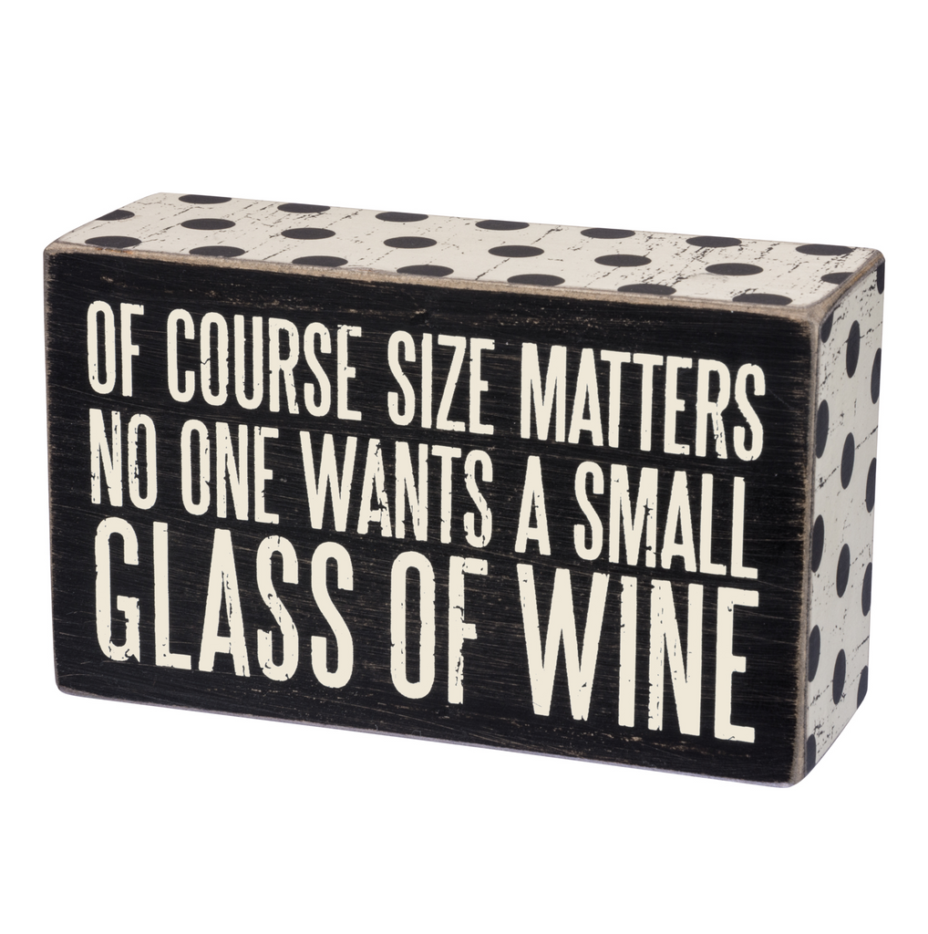 Buy Box Sign - Small Glass Wine