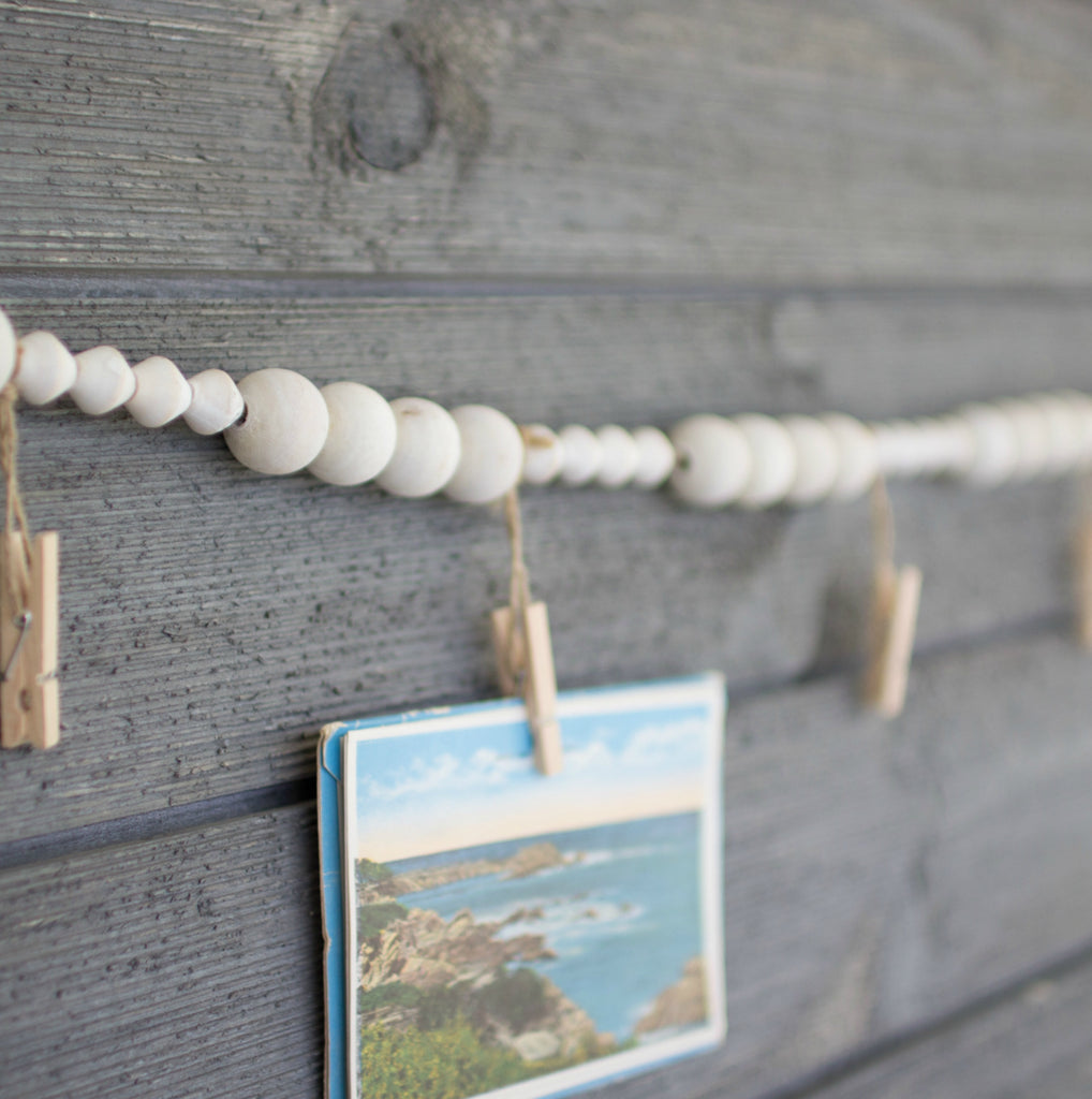 Photo Wood Bead Garland