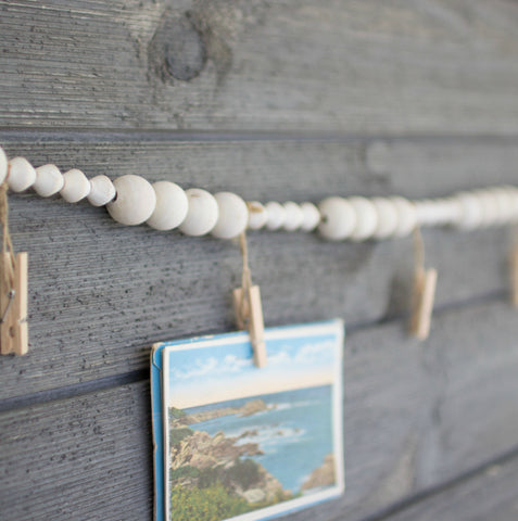 Photo Wood Bead Garland Holder